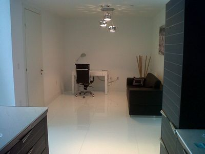 Brickell apartment rental - Den with one folding sofa