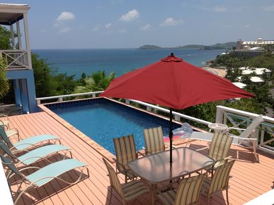 CalypsoBlu overlooks Morningstar Beach and the Caribbean Sea.