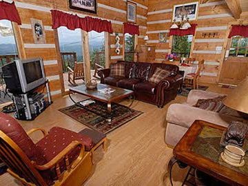 enjoy those beautiful mountain views while relaxing at the cabin