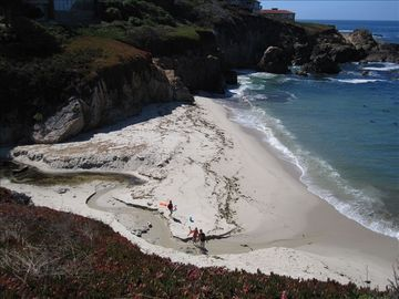 Carmel Highlands house rental - Secluded beach, path is next door. Another beach (private) is down the street.