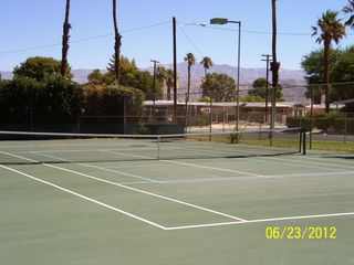Thousand Palms house photo - One of two tennis courts at the Club .. five minutes from your home!