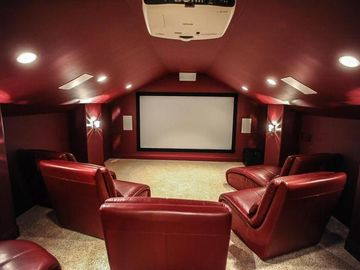 Fillmore house rental - A Profesional Movie Room with Electric chairs. DONT BE FOOLED BY IMPOSTERS