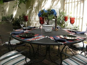 Enjoy a Meal or a Glass of Wine in Your Garden