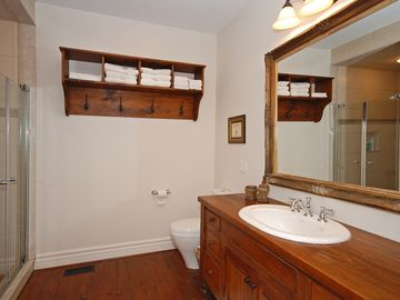 Master bathroom with jacuzzi soaker tub and separate shower