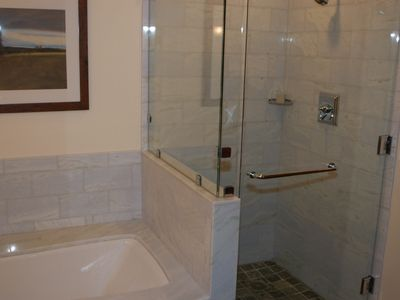 Luxurious spacious bathrooms...
