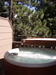 Mammoth Lakes townhome photo - Wonderful Spa on Private Porch Room for 5 or 6