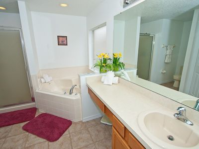 Ensuite - corner bath, shower, WC, Dressing Room