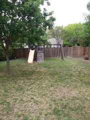 San Antonio house photo - Backyard with swingset/slide