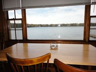 New Seabury cottage photo - Wonderful Waterviews from Dining Table