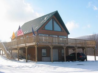 Jay Peak house photo - Plenty of parking for large trailers & snowmobiles