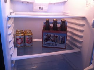 Austin apartment photo - There is always free local beer in the fridge on check in!