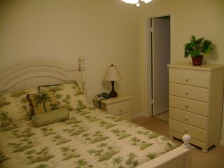 Dauphin Island condo photo - Master bedroom with queen bed and private bath.