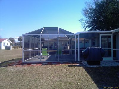 New for 2011 - Large screened room with covered area for your outdoor enjoyment