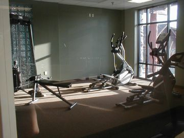 Indoor fitness room