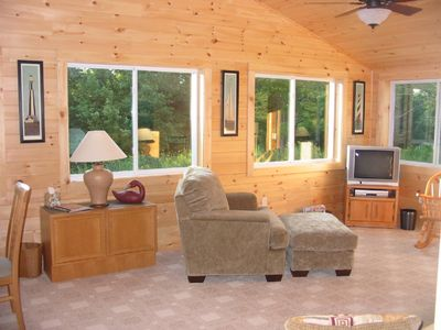 24x14 Sunroom-Big Windows & Knotty Pine-Feels Like Nature is All Around You!