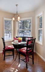 Woodstock house photo - Sunny breakfast nook with forest views