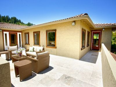 Healdsburg estate rental - Second level patio adjoins to bedrooms.