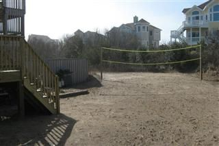 Regulation sand volleyball court