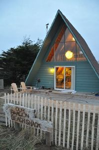 front of the Beach Shack with large deck in the front