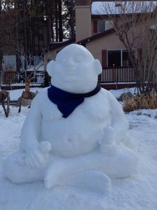 We Take Our Snow Man Building Very Seriously--Baby Buddah 2012