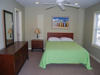 Rehoboth Beach house photo - bedroom with queen bed, full bathroom and TV