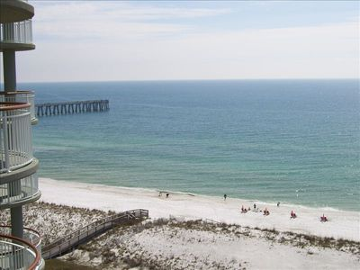 Beach and fishing pier from main balcony