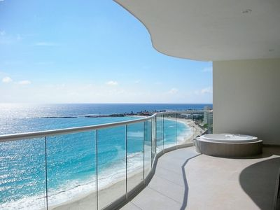 Balcony view with private jacuzzi