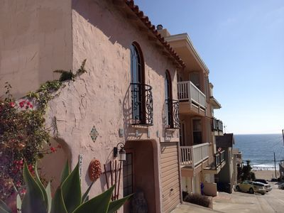 Enchanting Spanish Duplex with Ocean Views...1 Block to Beach!