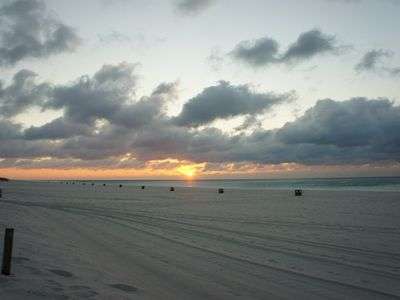 View of the sunrise over the Gulf of Mexico