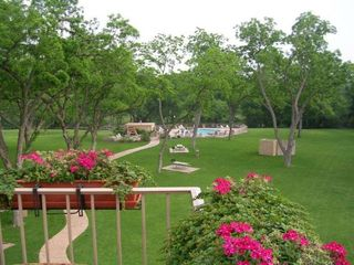 New Braunfels condo photo - View From Balcony of Pool and Hot Tub