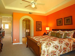 Waikoloa Beach Resort townhome photo - Master Bedroom with California King bed and all Tommy Bahama furnishings.