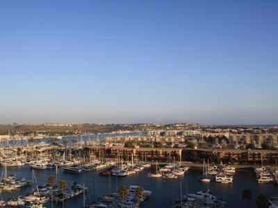 Spectacular, unobstructed views overlooking the Marina and Ocean from balcony