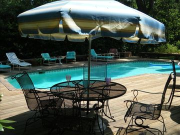 Sea Pines house rental - Large pool and deck for sunbathing