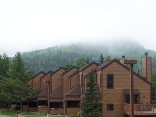 Lutsen townhome rental - Lutsen Mountain Townhome with Moose Mountain in background.