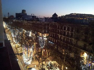 Night view from the Terrace in Christmas time