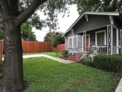 Austin house rental - Sit on the Front Porch and enjoy the historic Zilker Park Neighborhood and trees
