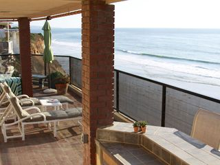 Solana Beach house photo - Oceanfront patio facing south