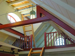 Owls Head apartment photo - Stairs to Sleeping Loft & Cupola