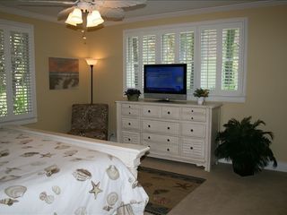 St. Simons Island house photo - Flat Screen TV in King Guest Room