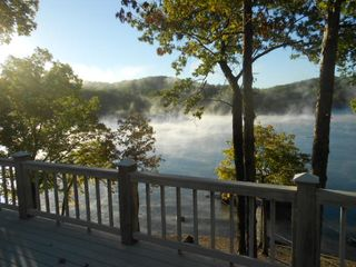 Laurie house photo - Crisp Fall morning with the fog rolling off the Lake
