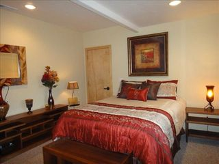 Trinidad house photo - Queen size bed, ocean view, luggage racks & closet space