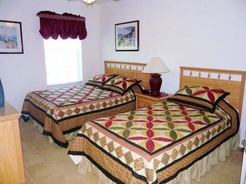 Orlando villa - Twin Bedroom, 1 single/1 double