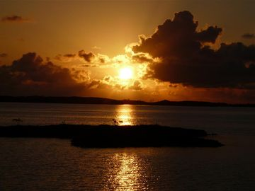 Sunrise over a near island & Lee Stocking Island from YOUR balcony!