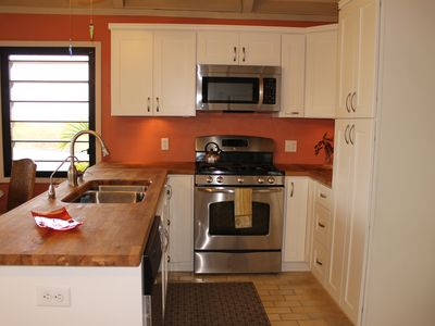 Newly renovated kitchen sure to impress the most discerning cook.