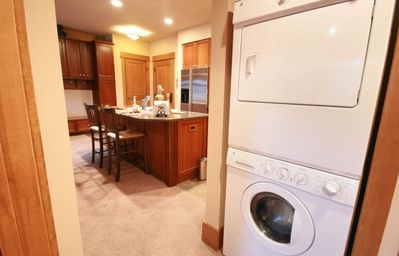 Private laundry in your condo so traveling back smells a little better!