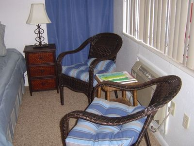 Studio Apartment Reading Area