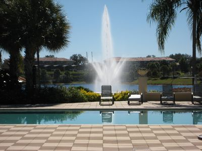 Encantada Resort house rental - A taste of Paradise! Resort pool with lake behind