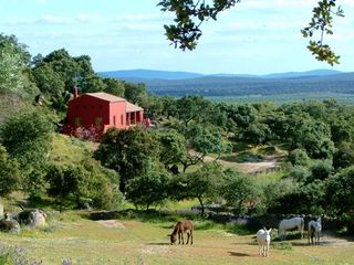Montánchez farmhouse rental - CORTIJO -from the horse meadow