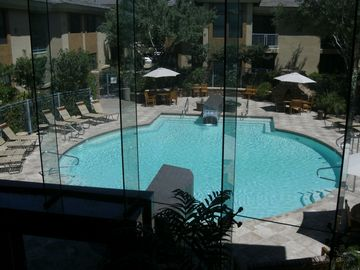 Other Scottsdale Properties condo rental - One of two pools as viewed from the clubhouse.