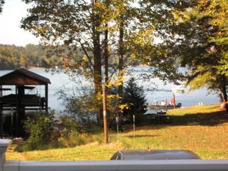 Goodview house photo - Fishers off neighbors' swim dock - area to your right is not our property
